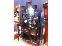 Edwardian mirrored dresser : Free Glasgow delivery