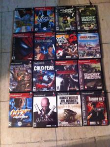 lot de  jeux PS 2