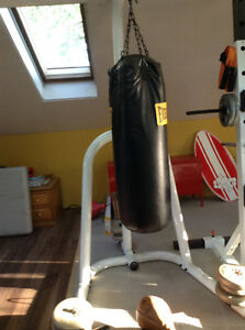 Heavy bag with stand