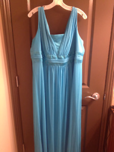 BEAUTIFUL, Bright Blue, Floor-Length Gown