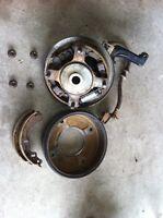 Front hubs + brakes Suzuki quad 1993