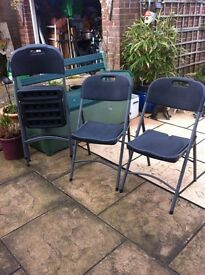 These are 4 Heavy duty plastic folding chairs..For Outdoor, Indoor, Office, Camping ect,