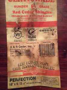 """Red Cedar shingles wanted #2 18"""" clear"""