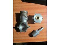 Part made glow plug engine