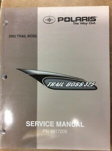 2002 POLARIS TRAIL BOSS 325 SHOP MANUAL
