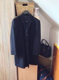 Men's Cashmere Wool Winter Long Smart Jacket Medium/Large