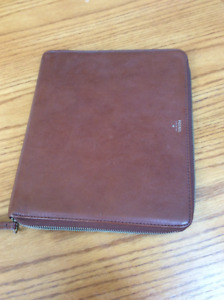 Fossil brand real leather case for ipad or tablet