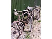 Antique Raleigh bikes