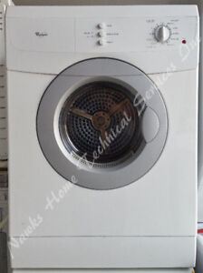 Whirlpool Compact Dryer, 12 month warranty