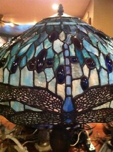 Gorgeous Stained Glass Dragonfly Lamp