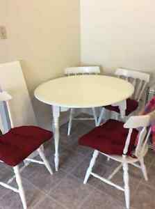 Kitchen table with leaf - $80 OBO