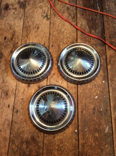 1960's Mercury Ford Dog Dish Poverty Hubcaps