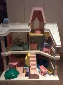 maison poupee, chateau princesse,balancoire bebe,chaise haute