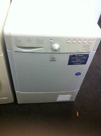 INDESIT CONDENSER WHITE TUMBLE DRYER COMES WITH A STORE WARRANTY INDESIT WHITE GOOD CONDITION