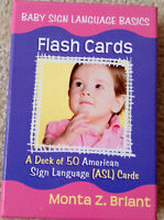 NEW Baby Sign Language Flash Cards in Hard Box Case