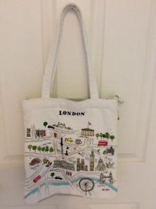 LONDON canvas bag by Alice Tait