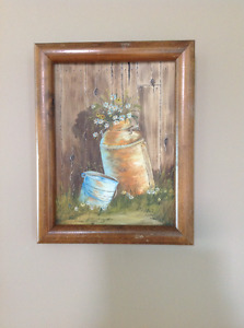 Two Old Buckets painting