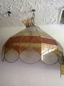 Stained glass hanging lamp $175.00