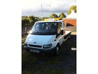 Ford transit recovery truck van car flatbed beaver tail iveco lorry