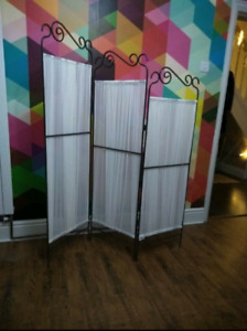 Room divider, metal and fabric, Ikea