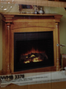 Vermont Casting Fireplace mantel and base NEW