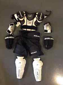 Bauer hockey protective gear