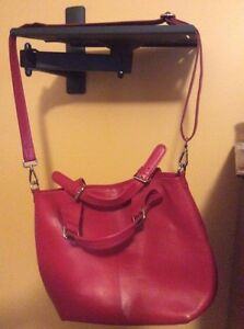 Purse.  Bag. Satchel. Red leather.