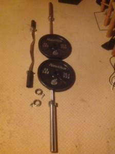Olympic bars and plate weights