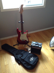 Guitar, stand , case and amp for sale
