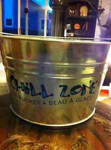 New Galvanized Ice Bucket with handle
