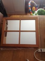 Wood mirror 22 1/2 by 18 1/2 $20.00