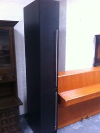 Tall narrow black ash bedroom cabinet
