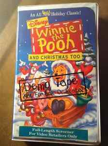 Disney Winnie the Pooh and chrismas too demo tape