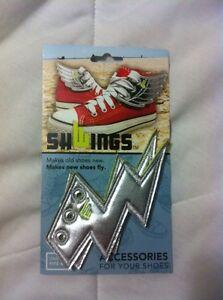 Lightning bolt shoe accents, new