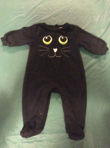 Black Cat sleepers,  size 3-6 months