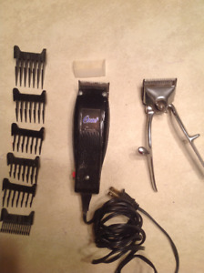 Hair Clippers-Oster Electric with attachments + Vintage Clippers