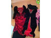 2 girls halloween vampire dresses for ages 9/10 £5 each