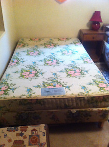 Three Quarter Bed - Mattress and Box Spring