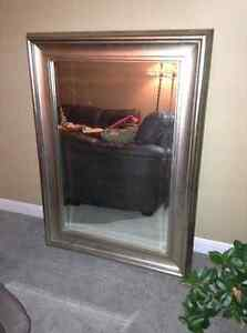 Gorgeous large sized framed mirror for sale
