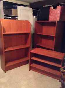 Three-piece Wood shelving unit - $100 for 3 pieces or separately