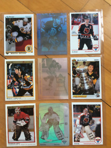 36 cartes hockey vedettes des années 90