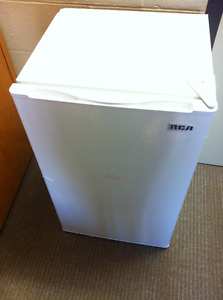White mini fridge