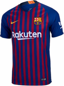 Barcelona soccer jerseys, version 2018-19