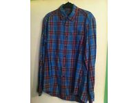 UNI QLO flannel long sleeve shirt (S)
