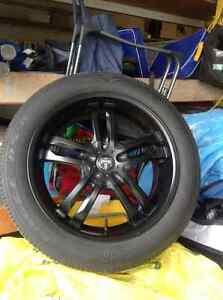 Dub Black Rims Goodyear Eagle Tires P245/50 R20 H102