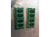 2x1gb macbook RAM memory taken out of a working 2008 A1181