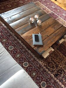 Fancy and ancient coffee table with storage