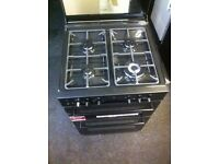 STOVES WASHER BLACK DUAL FUEL FREESTANDING 4HOB COOKER