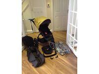 Phil & Teds Navigator double buggy stroller pram + extras