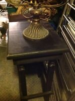 Table en bois dur et autres objet